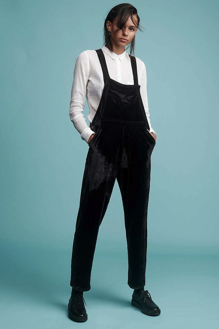 get-the-look-Urban Renewal Remade Velvet Overall ($98)